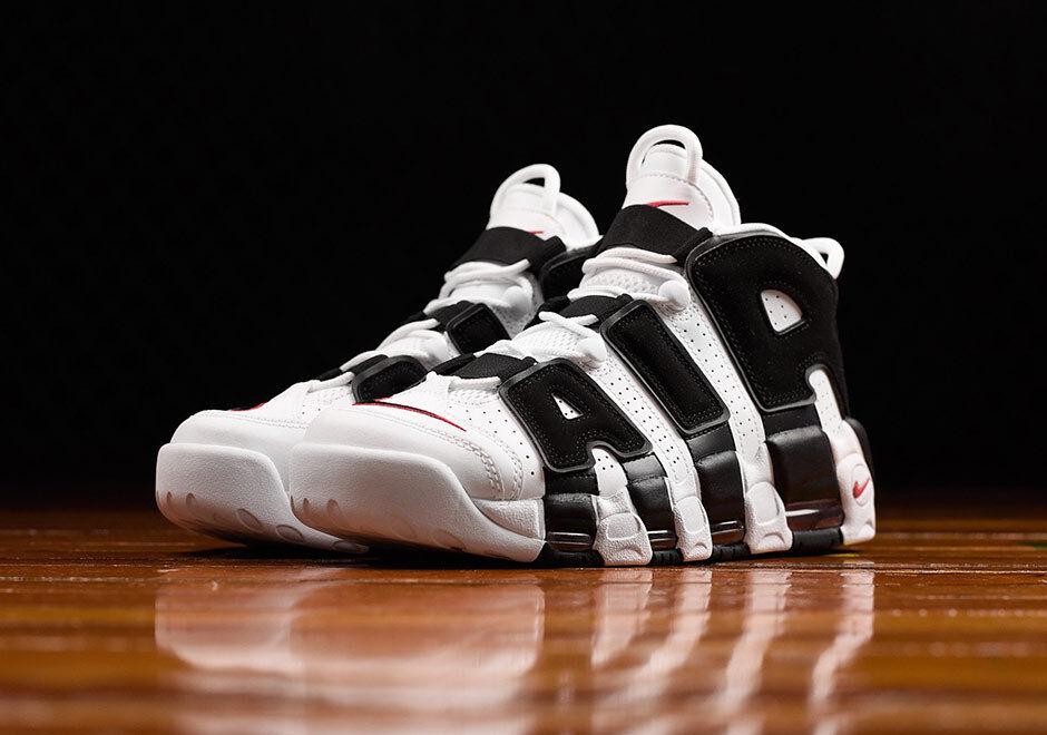 Nike air più ritmo scottie pippen bianco rosso 414962-105 uomini & gs dimensioni