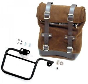6f7fb174c5 Unit Garage Waxed Suede Luggage Side Pannier and Subframe for BMW ...