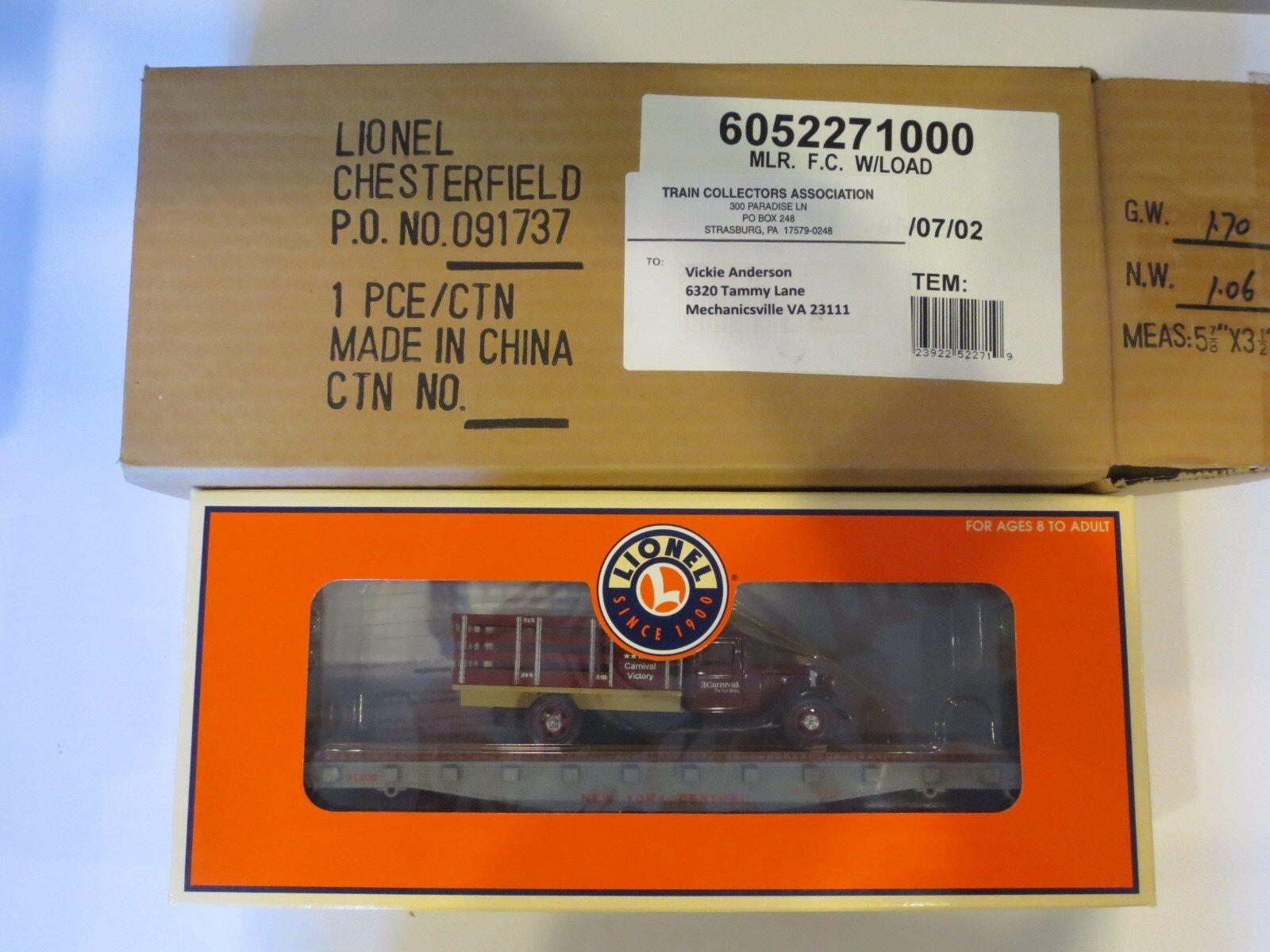 RARE Lionel i treni 2008 TCA Legacy CROCIERA piatto auto con autoico articolo  91308 IN SCATOLA B