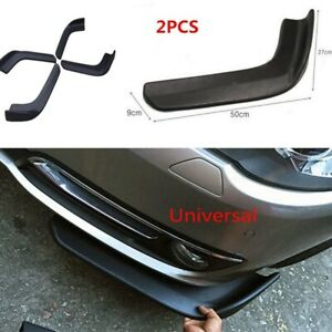 2PCS-coche-Labio-Parachoques-Delantero-Kit-De-Carroceria-Aleron-Divisor-Universal-Para-BMW-Audi