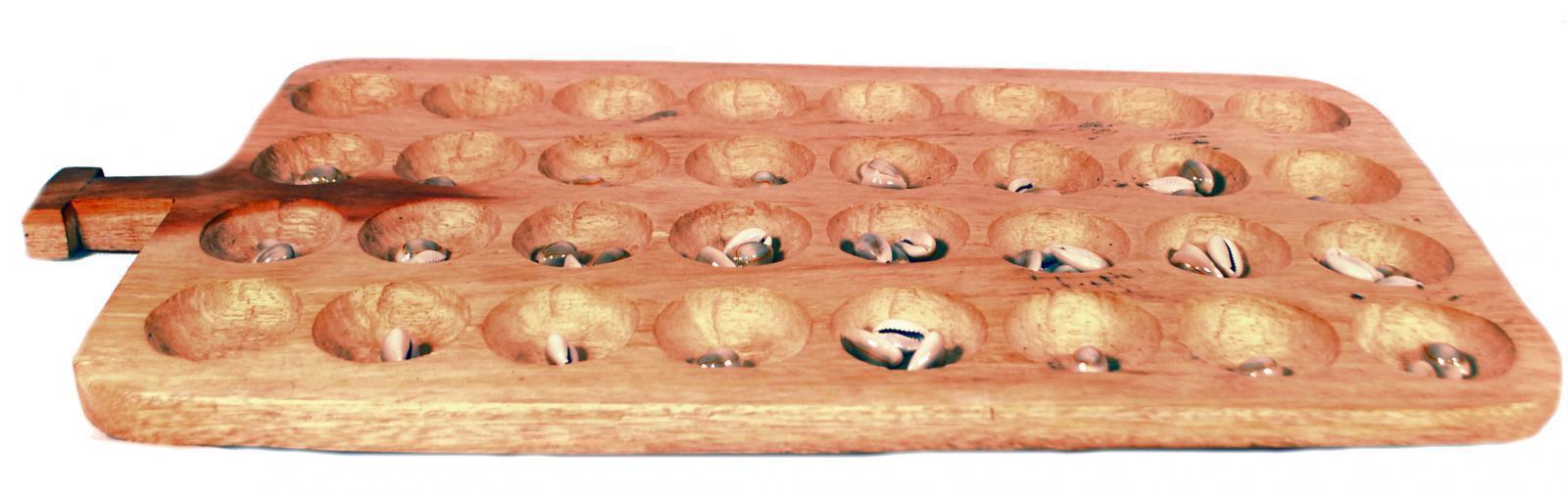 Fatto a uomoo Ugeese Legno uomocala Bao Omweso Tradizionale Gioco Gioco Gioco da Tavolo & 97521a