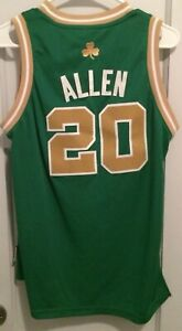 newest 86074 473d6 Details about Ray Allen Boston Celtics St Patrick's Day Nba Jersey Yth L  Adidas Sewn #20 Rare