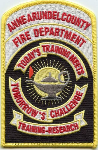 ANNE ARUNDEL COUNTY MARYLAND MD Training Research FIRE PATCH