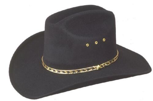Nouveau western cowboy stetson Chapeau Noir Cattleman-Déguisements-S M XL,61,62,63 L