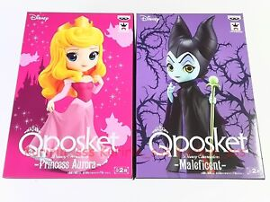 Details about Set2 Q posket Disney Characters Aurora Maleficent Figure A  color Sleeping Beauty