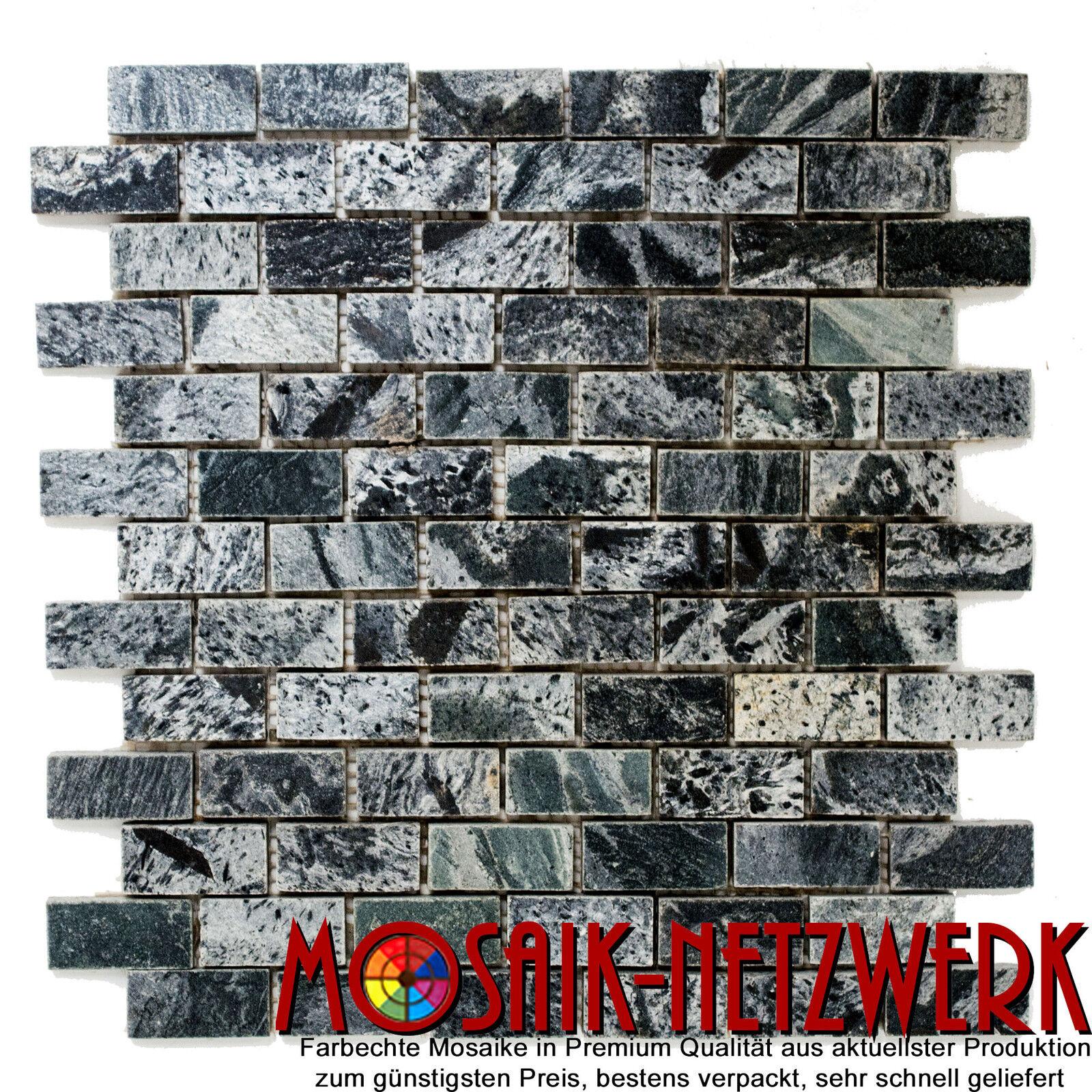 Mosaik Verbund silbergrau poliert Fliesenspiegel Küche Art 28-0202_C   10 Matten
