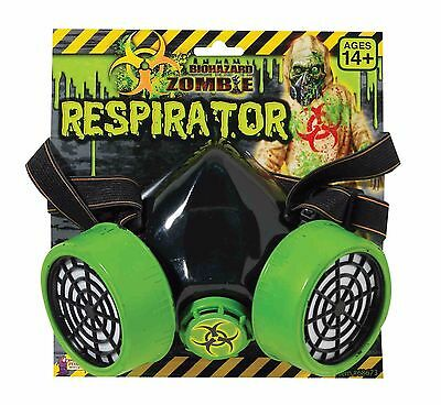 Costume Respirator Gas Mask Biohazard Green Breaking Bad Parody Face Shield NEW