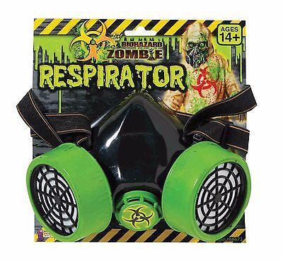 Costume Respirator Gas Mask Biohazard Green Breaking Bad Parody Face Shield NEW