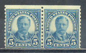 US-Stamp-L1954-Scott-602-Mint-NH-OG-Nice-Vintage-Coil-Pair