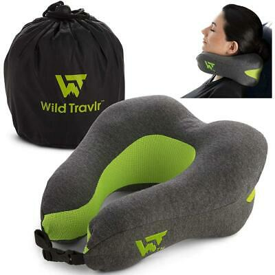 Neck Pillow For Airplane Travel Ultra Soft Memory Foam
