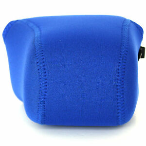 Sony-NEX-F3-F3K-Body-18-55mm-Lens-Soft-Neoprene-Camera-Case-Sleeve-Pouch-Blue