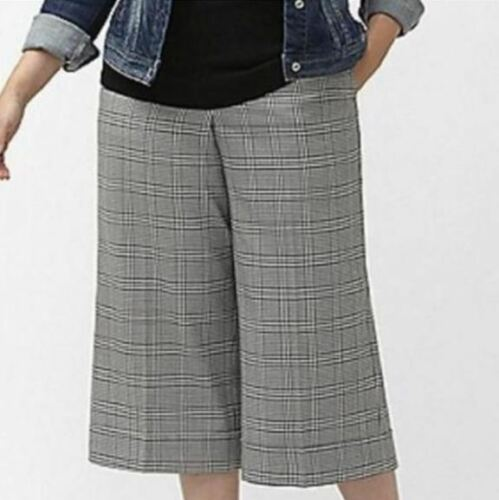 Lane Bryant PLUS 16W Houndstooth Wide Leg CROP PAN