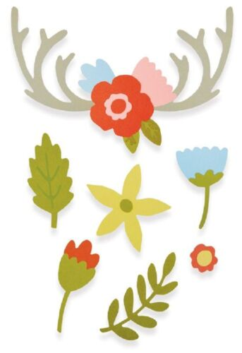 Country Florals 662095 Sizzix Thinlits Cutting Die Stencil Emboss 13PK