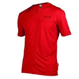 POC-Trail-Light-Zip-Tee-Pewter-Red-2015