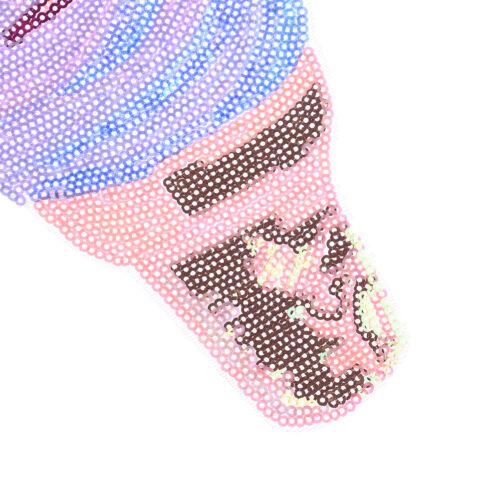 Decorazione applique ricamata patch di paillettes di colore ghiaccio  Ob