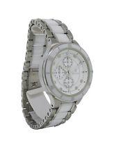 Bulova 98P125 Men's Round White Analog Diamond Ceramic Stainless Steel Watch