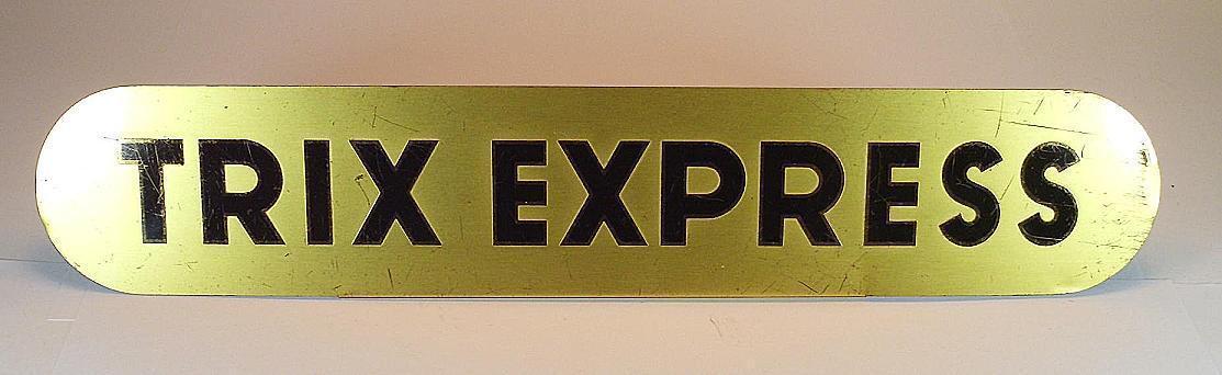 Trix EXPRESS caricare sul piatto in ottone della Ditta S. Demmel Monaco 30cm x 5,5cm
