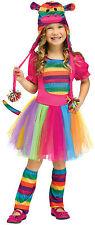Fun World Rainbow Sock Monkey Toddler Girl Costume Size Large 3T-4T