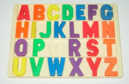 Vintage Fisher Price Little People School Alphabet Individual Magnet Letters A-Z