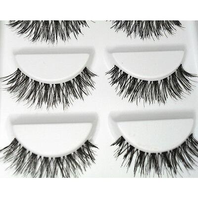 5 Pairs Soft Easy Long Black Cross False Eyelash Makeup Eye Lash Extension #HW-8