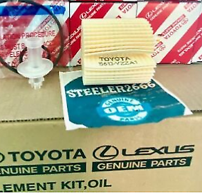 (3) Toyota Lexus Scion Genuine OEM Oil Filter 04152-YZZA1 Set of Three