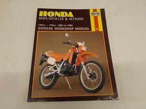 honda mbx mtx125 mtx200 83 90 manual ebay rh ebay co uk Honda CM 125 Motor Honda 125