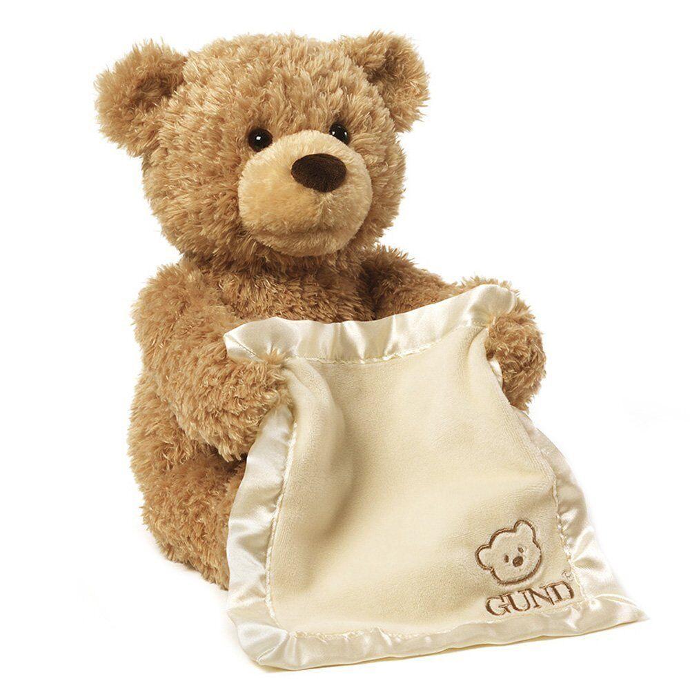 Hide and Seek Baby Toy Gund Peek A Boo Bear Stuffed Animal Plush Speaks Play New