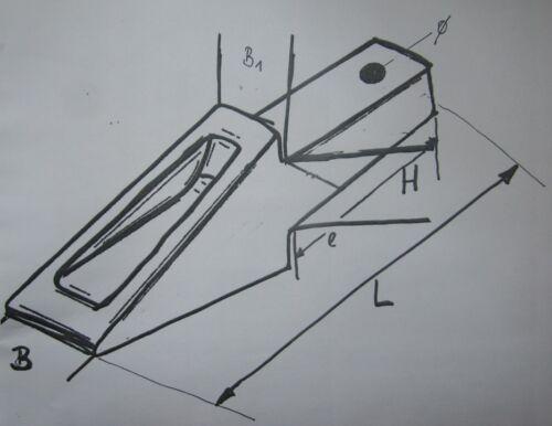 Tieflöffelzahn neu aus Lagerauflösung Baggerzahn System Bofors