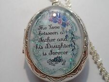 THE LOVE BETWEEN A FATHER AND HIS DAUGHTER IS FOREVER LOCKET TEAL/PURPLE