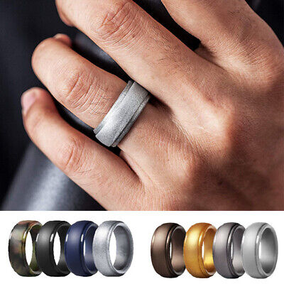American Flag Ring Sizes 7-13 Silicone Wedding Band for Men and Women