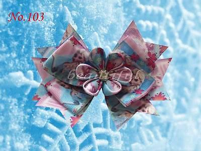 """100 BLESSING Good Girl Boutique 4.5/"""" A Princess Hair Bow Clip Cinderella Frozen"""