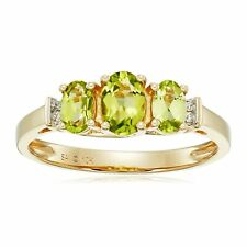 Three-Stone Ring with Diamonds in 10K Gold
