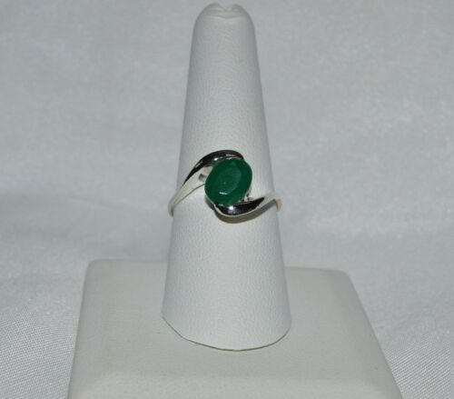 Glamour 1.75 Ct Naturel Émeraude Argent sterling .925 Bague Taille 5 To 9