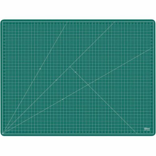 "36/"" x 48/"" GREEN//BLACK Self Healing 5-Ply Double Sided Durable PVC Cutting Mat"