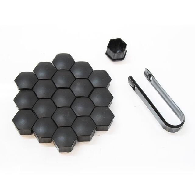 20x Abdeckkappen 17mm Radmuttern Schrauben für Skoda Fabia Octavia Superb Yeti