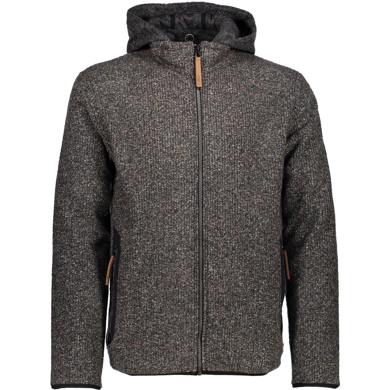 CMP Jacke 3M34677 Man Jacket Zip Hood Herren Wolljacke Strickjacke carbone