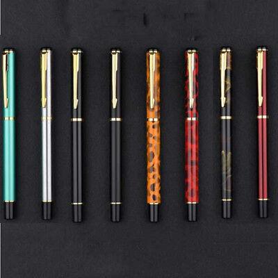 BAOER 3035 Classic Black Metal China Fountain Pen Medium Fine 0.5mm Nib Gift #YO