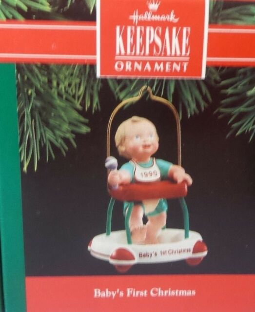 HALLMARK 1990 BABY'S FIRST CHRISTMAS ORNAMENT - Hallmark 1990 Baby's First Christmas Ornament EBay