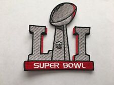 Super Bowl 51 Patch Superbowl LI Embroidered Patches Iron On/Sew On In Stock