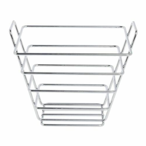 7 1//2 x 5 1//2 x 6H Wire Bread Basket Rectangular Chrome