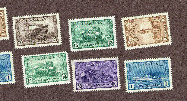 CANADA 249-262 VF MNH WAR ISSUE (BER23,2