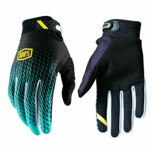 100/% Ridefit Cycling Gloves MTB BMX Full Finger Mountain Bike Riding Glove UK