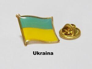 Spilla pin badge flag bandiera nazione country UKRAINE UCRAINA - Italia - Spilla pin badge flag bandiera nazione country UKRAINE UCRAINA - Italia