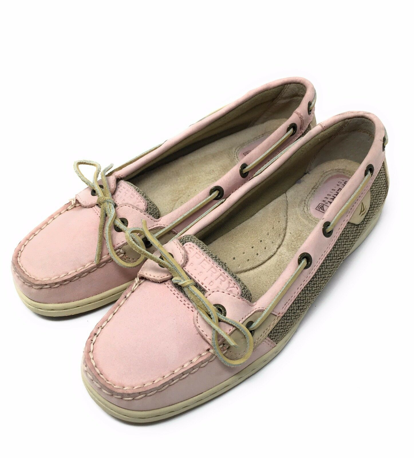 Sperry Top Sider Damenschuhe Casual Boat Schuhes Pink Tan Leder Größe 8 9102039