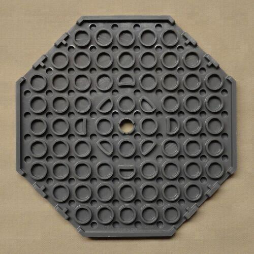 x1 NEW Lego Baseplate Modified 10 x 10 Octagonal w// Hole DARK BLUISH GRAY