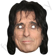 Alice Cooper Celebrity Singer American Band Card Mask - All Masks Are Pre-Cut!