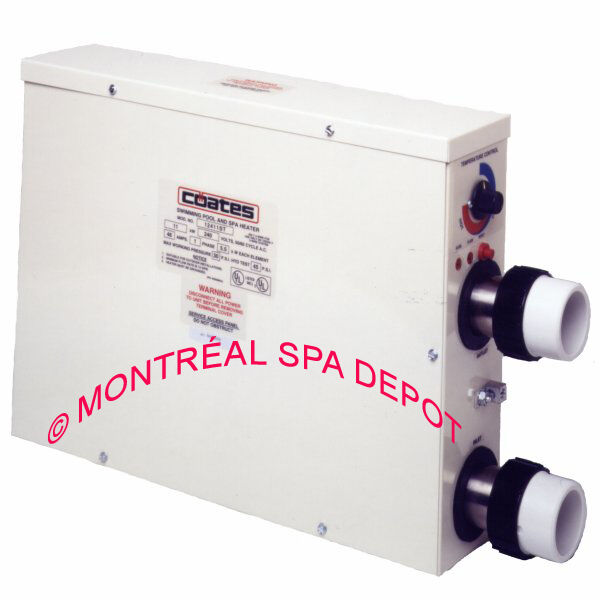 COATES electric spa & pool HEATER 11kW / 240V / 1phase 37543 BTU