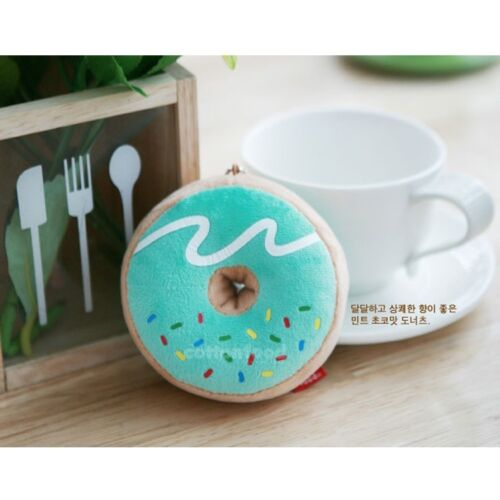 Mint Small Cotton Food Plush Toy Keychain Donut
