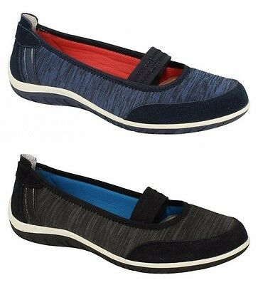 Ladies Down To Earth Flat Shoes F80209