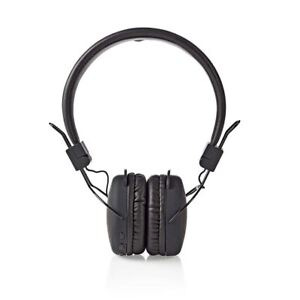 Nedis-Wireless-Headphones-Bluetooth-On-ear-Foldable-Black-HPBT1100BK